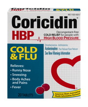 Coricidin® HBP Cold & Flu Cold Relief Tablets 20 ct Box
