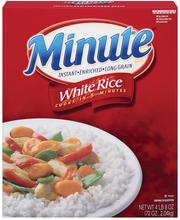 Minute White Instant Enriched Long Grain Rice 72 Oz Box