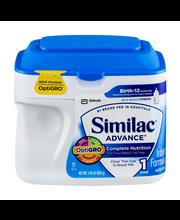 Similac® Advance® OptiGro™ Infant Formula with Iron 1.45 lb. Tub