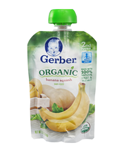 Gerber Organic 2nd Foods Baby Food, Bananas & Squash, 3.5 oz ...