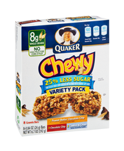 Quaker® Chewy 25% Less Sugar* Chocolate Chip/Peanut Butter Ch...