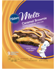 Pillsbury™ Melts Refrigerated Cookies Caramel Brownie Filled ...