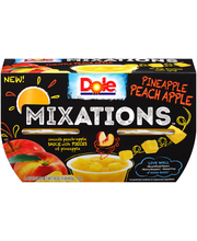 Dole® Mixations™ Pineapple Peach Apple Fruit Cups 4-4oz. Cups