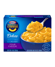 Kraft Deluxe Four Cheese Cheddar Macaroni & Cheese Dinner 14 ...
