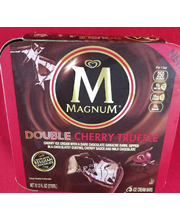 Magnum Double Cherry Truffle Ice Cream, 3 ct