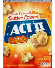 Act II® Butter Lovers® Microwave Popcorn 6-78g Bags