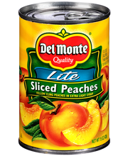 Del Monte® Lite Sliced Yellow Cling Peaches in Extra Light Sy...