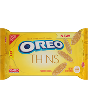 Nabisco Oreo Thins Golden Sandwich Cookies 10.1 oz. Tray