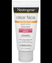 Neutrogena® Clear Face Liquid-Lotion Sunscreen Broad Spectrum...