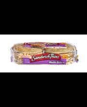 Arnold Sandwich Thins Pre-Sliced Multi-Grain Rolls - 8 PK