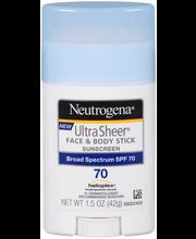 Neutrogena® Ultra Sheer® Face & Body Sunscreen SPF 70 1.5 oz....