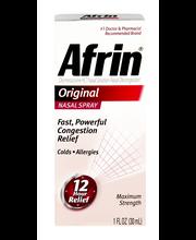 Afrin® Original Nasal Decongestant Nasal Spray 1 fl. oz. Box