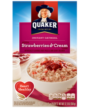 Quaker® Strawberry & Cream Instant Oatmeal 10-1.23 oz. Packets