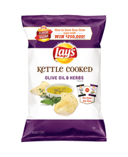 Lay's Kettle Cooked Olive Oil & Herbs Potato Chips 2.75 Ounce...