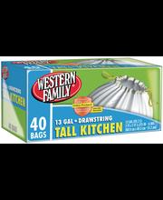Wf Tall Drawstring Kitchen Bag