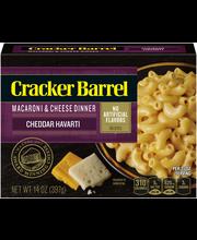 Cracker Barrel Cheddar Havarti Macaroni & Cheese Dinner 14 oz...