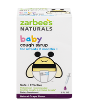 Zarbee's® Naturals Baby Cough Syrup Natural Grape Flavor Diet...