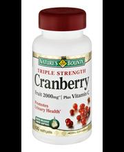 Nature's Bounty Cranberry Triple Strength Fruit 2000mg Plus V...