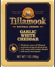 Tillamook® Garlic White Cheddar Natural Cheese 7 oz. Pack