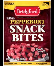 Bridgford® Real Pepperoni Snack Bites 4 oz. Package