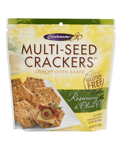 Crunchmaster® Rosemary & Olive Oil Multi-Seed Crackers 4.5 oz. Pouch