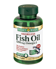 Nature's Bounty Odorless Fish Oil 1200mg/Omega-3 Dietary Supp...