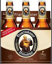 Franziskaner Naturtrub Beer 6-12 fl oz Glass Bottles