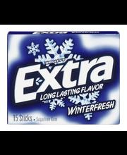 Wrigley's Extra Long Lasting Winterfresh Sugarfree Gum - 15 CT