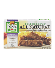 Jones All Natural Golden Brown Cooked Sausages Maple - 10 CT