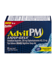 Advil® PM Liqui-Gels® Pain Reliever/Nighttime Sleep Aid (Ibup...