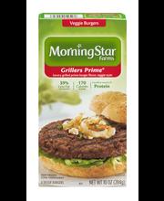 MorningStar Farms® Grillers Prime® Veggie Burgers 4 ct Box