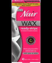 Nair™ Wax Ready-Strips Hair Remover for Legs & Body 40 ct Box