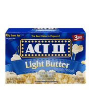 Act II® Light Butter Microwave Popcorn 3-78g Bags