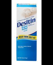 Desitin® Rapid Relief Zinc Oxide Diaper Rash Cream 4 oz. Box