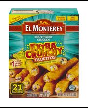 El Monterey® Southwest Chicken Extra Crunchy Taquitos 21 ct Box