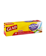 Glad Extra Wide Seal Gallon Storage Zipper Bags - 40 CT