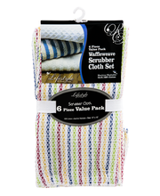 Lifestyle By Royal Crest Waffleweave Scrubber Cloth Set - 6 PK
