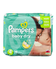 Pampers Baby-Dry Size 4 Diapers 28 ct Pack