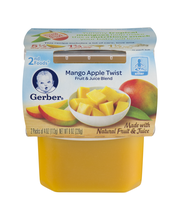Gerber® 2nd Foods® Mango Apple Twist 2-4 oz. Packs
