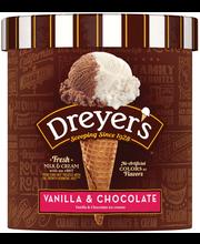 EDY'S/DREYER'S Grand Vanilla & Chocolate Ice Cream 1.5 qt. Ca...