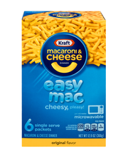 Kraft Easy Mac Original Flavor Macaroni & Cheese Dinner 6 ct Box