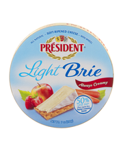 President Light Brie Soft-Ripened Cheese Mini-Wheel