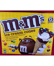 M&M's® Vanilla Ice Cream Cones 6 ct. Box