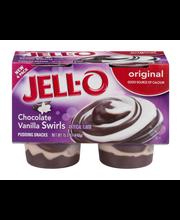 Jell-O® Chocolate Vanilla Swirls Pudding Snacks 4 ct Cups
