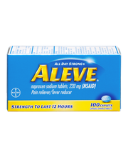 Aleve® Naproxen Sodium Pain Reliever/Fever Reducer 220mg Capl...