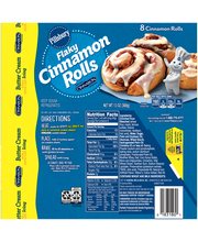 Pillsbury Flaky Cinnamon Rolls with Butter Cream Icing 8 ct Can
