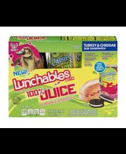 Lunchables Turkey & Cheddar Sub Sandwich Lunch Combinations 4...