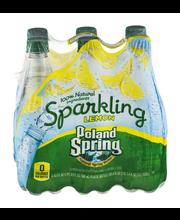 Poland Spring Sparkling Spring Water Lemon - 6 PK
