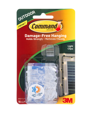 3M Command Brand Damage-Free Hanging Light Clips 16-Clips 20-...