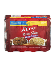 Purina ALPO Gravy Cravers Variety Pack Dog Food 12-13.2 oz. Cans